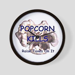 Popcorn Kills Wall Clock