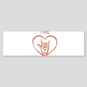 MAUI (hand sign) Bumper Sticker