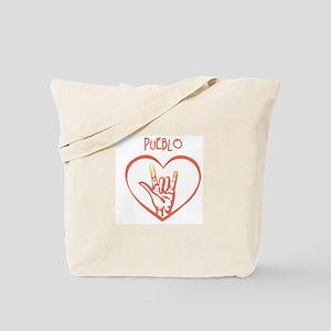 PUEBLO (hand sign) Tote Bag