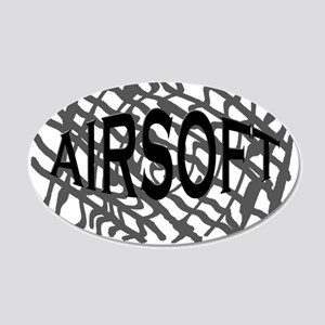 Airsoft 20x12 Oval Wall Decal