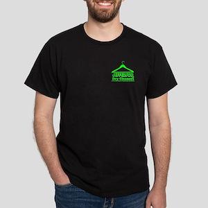 Jefferson Cleaners Green Logo Dark T-Shirt