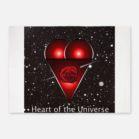Heart of the Universe Lovers Design 5'x7'Area Rug