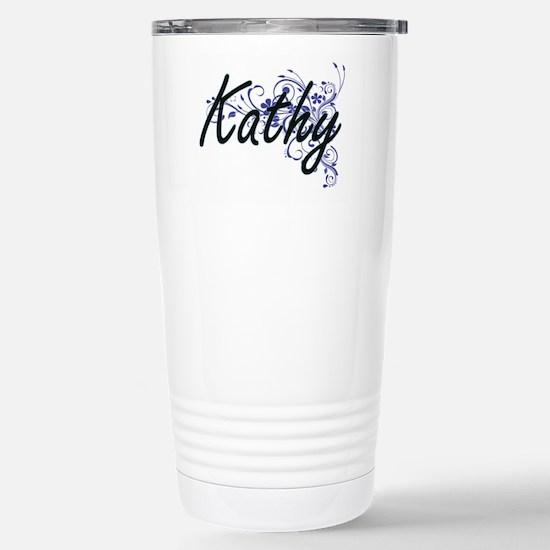 Kathy Artistic Name Des Stainless Steel Travel Mug