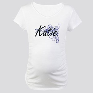 Katie Artistic Name Design with Maternity T-Shirt
