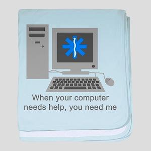 Computer Repair baby blanket