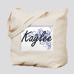 Kaylee Artistic Name Design with Flowers Tote Bag