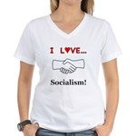 I Love Socialism Women's V-Neck T-Shirt