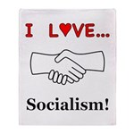 I Love Socialism Throw Blanket