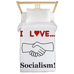 I Love Socialism Twin Duvet