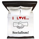 I Love Socialism King Duvet