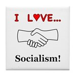 I Love Socialism Tile Coaster