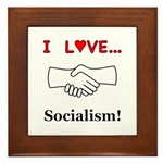 I Love Socialism Framed Tile