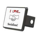 I Love Socialism Rectangular Hitch Cover