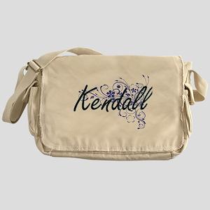 Kendall Artistic Name Design with Fl Messenger Bag