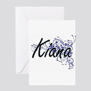 Kiana Artistic Name Design with Flo Greeting Cards