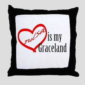 Tulsa Is My Graceland Throw Pillow