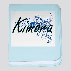 Kimora Artistic Name Design with Flow baby blanket