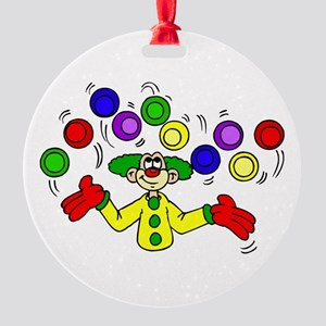 funny clown Round Ornament