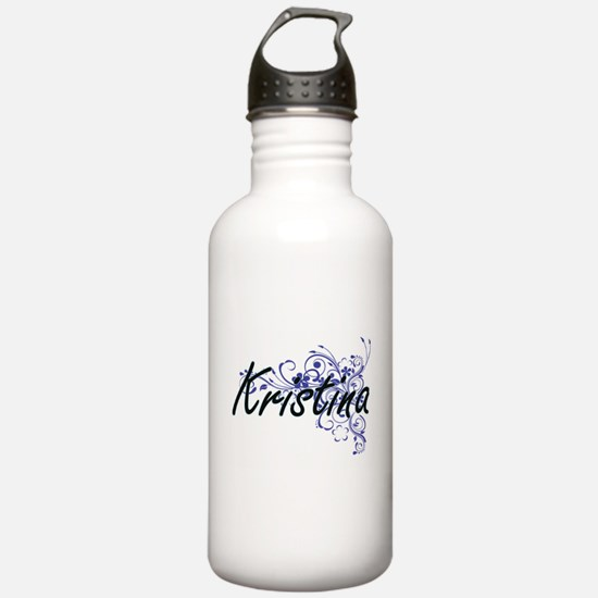 Kristina Artistic Name Sports Water Bottle
