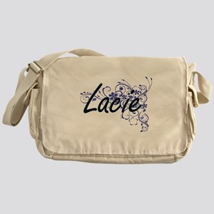 Lacie Artistic Name Design with Flow Messenger Bag