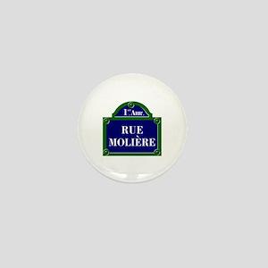 Rue Molière, Paris - France Mini Button