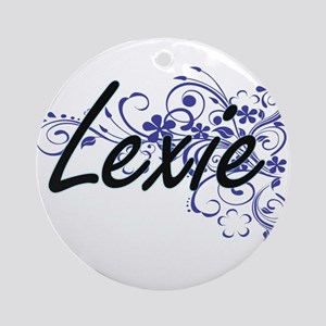 Lexie Artistic Name Design with Flo Round Ornament