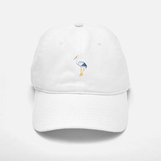 stork Baseball Baseball Cap