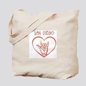 SAN DIEGO (hand sign) Tote Bag