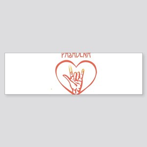 PASADENA (hand sign) Bumper Sticker