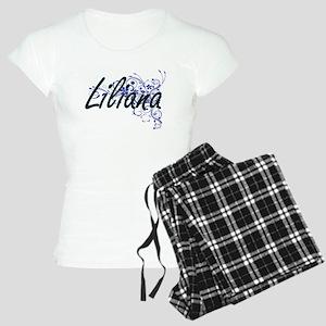 Liliana Artistic Name Desig Women's Light Pajamas