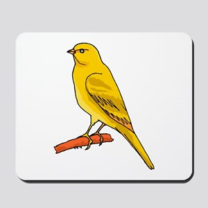 canary and bluebird Mousepad