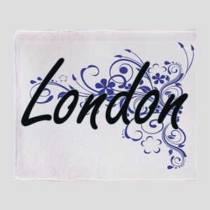 London Artistic Name Design with Flo Throw Blanket