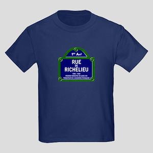Rue de Richelieu, Paris - France Kids Dark T-Shirt