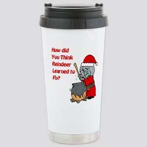 How Reindeer Fly Stainless Steel Travel Mug