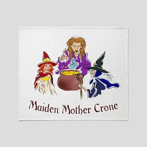 Maiden Mother Crone Throw Blanket