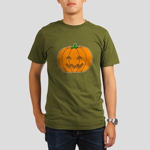 Jack O Lantern Organic Men's T-Shirt (dark)