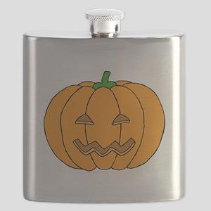 Jack O Lantern Flask