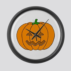 Jack O Lantern Large Wall Clock