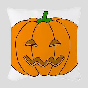 Jack O Lantern Woven Throw Pillow