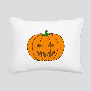 Jack O Lantern Rectangular Canvas Pillow