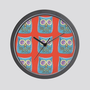 Toy Modern Owl Art Wall Clock