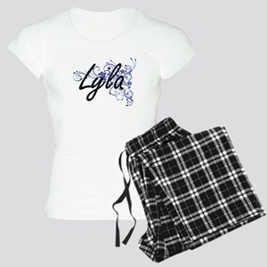 Lyla Artistic Name Design w Women's Light Pajamas