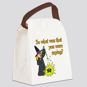 What were you saying? Canvas Lunch Bag
