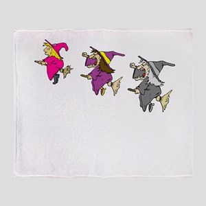 3 witches Throw Blanket