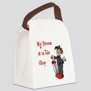 Vacuum Riding Witch Canvas Lunch Bag
