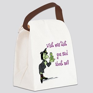 What did you say? Canvas Lunch Bag
