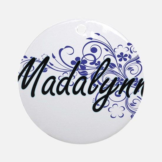 Madalynn Artistic Name Design with Round Ornament