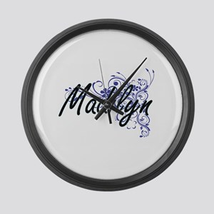 Madilyn Artistic Name Design with Large Wall Clock
