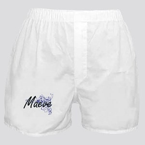 Maeve Artistic Name Design with Flowe Boxer Shorts