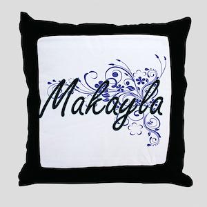 Makayla Artistic Name Design with Flo Throw Pillow